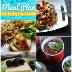 Weekly Meal Plan with Grocery List #38 | Life as MOM