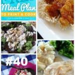 Weekly Meal Plan with Grocery List # 40 | Life as MOM