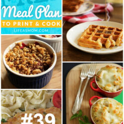 Weekly Meal Plan to Print & Cook #39