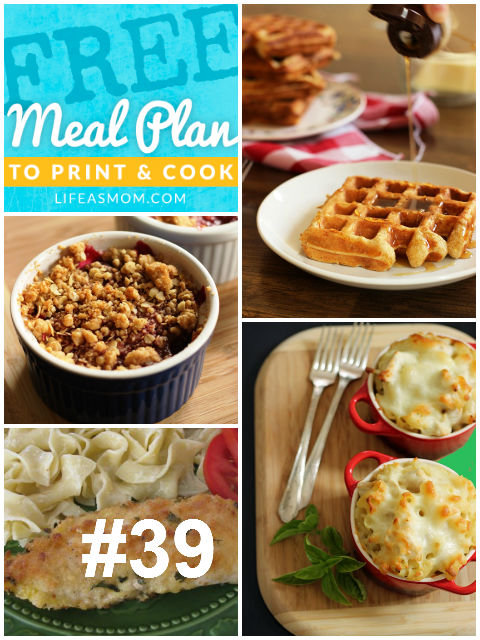 Weekly Meal Plan with Grocery List #39   Life as MOM