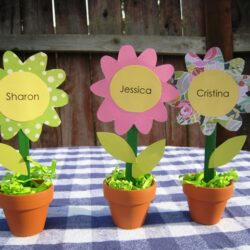 flower placecards
