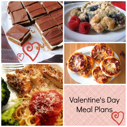 Valentine's Day Menu Plan to Print & Cook - grab this festive meal plan and grocery list to show your family some love.