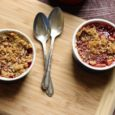 whole grain cherry crumble