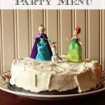 Frozen Party Menu - Ready to let it go? How about a Frozen screening party complete with a family-friendly menu and a Frozen cake? This party menu works for birthdays and other celebrations as well.
