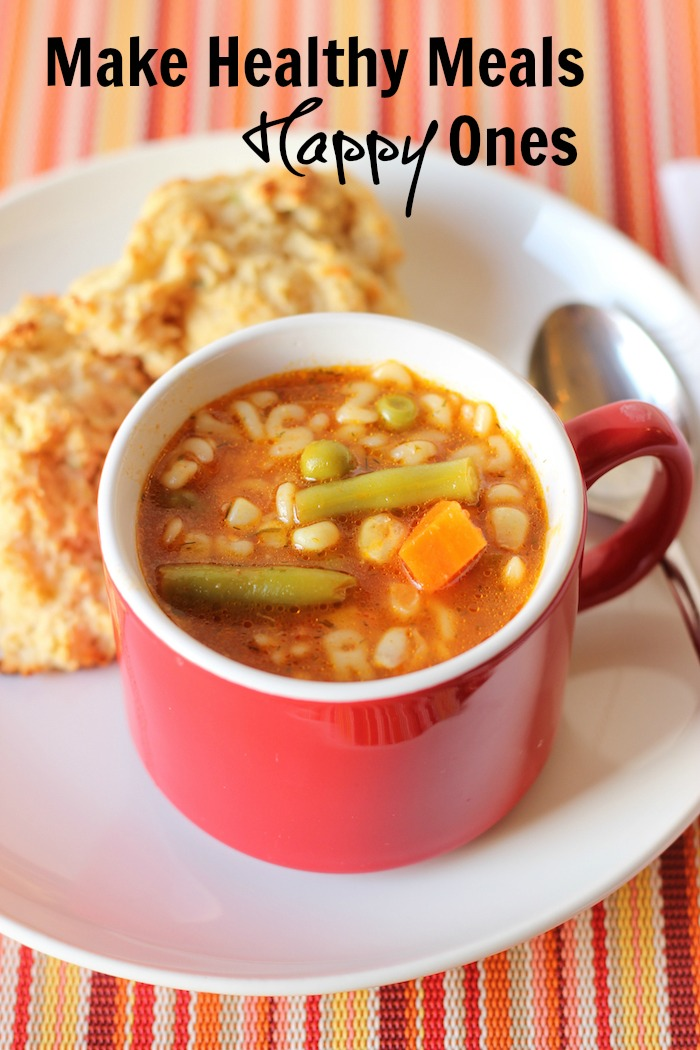 A plate of biscuits and mug of soup