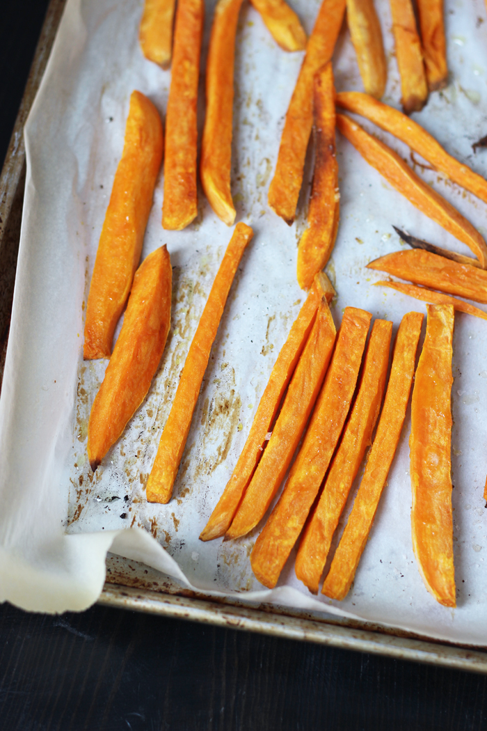 A tray of sweet potato fries