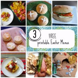 3 Free Printable Easter Menus