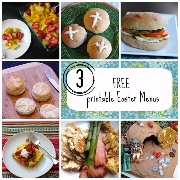 3 Free Printable Easter Menus - Make meal planning for the holiday as easy as pie.