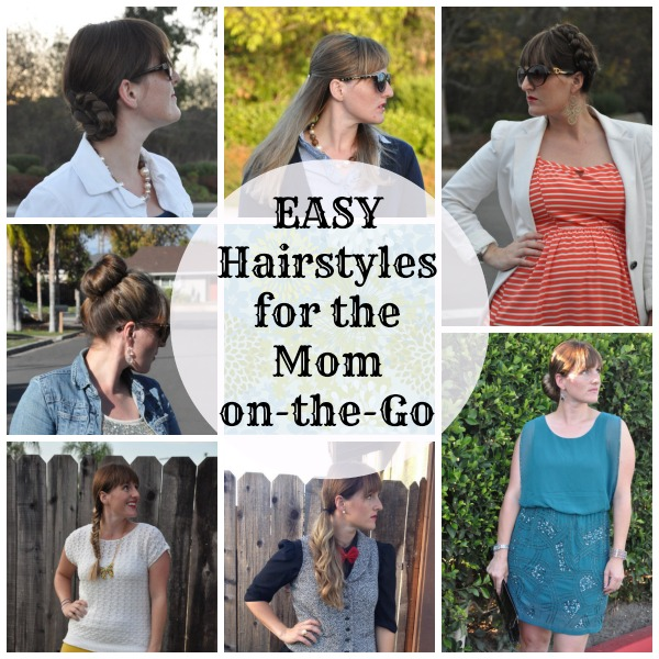 6 Easy Hairstyles to Do While Running Out the Door: Need a quick hairdo for busy mornings? You don't have to go with the messy ponytail -- unless you want to. Life as MOM contributor, Rena, shows you some easy 'do's for the on-the-go mom.