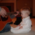 baby and guitar