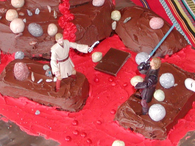 May the Force Be With You: Star Wars Cake - Long, long ago, in a galaxy far, far away, there was a birthday cake that every Jedi dreamed of.... In honor of Sunday, May the Fourth, here's a fun cake to make.