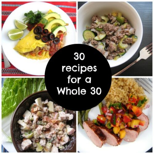 30 Recipes for a Whole 30 - Interested in taking the Whole 30 Challenge? Here are 30 family-friendly, budget-minded recipes that will help you pull it off.