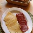 Jarlsberg Salami Crackers Plate