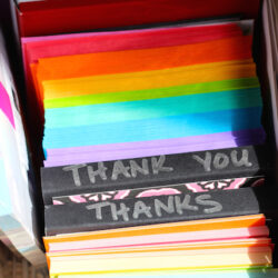 thank you cards in basket