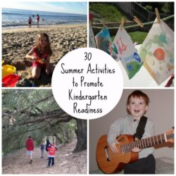 30 Summer Activities to Promote Kindergarten Readiness