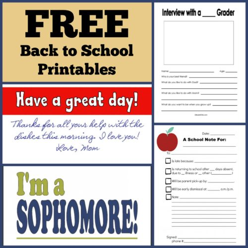 FREE Back to School Printables | Life as MOM - Fire up your printer. Download this collection of free back to school printables and you will rock the new year.