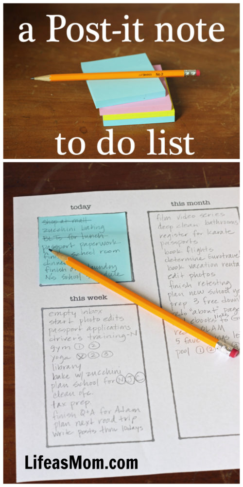 post it note to do list system planning that works life as mom