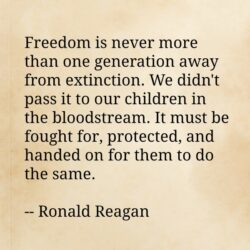 Reagan freedom quote