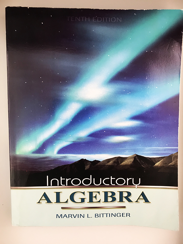 beat up introductory algebra book