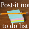 post it note to do list system