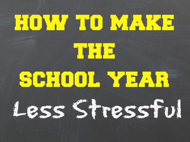school year stress