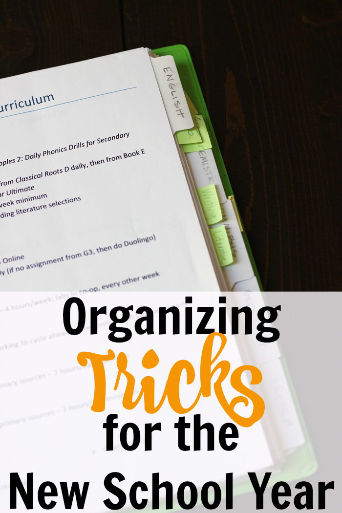 Organizing Tricks for the New School Year | Life as Mom
