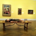 Bored Girl at a Museum