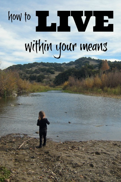 How to Live Within Your Means | Life as Mom