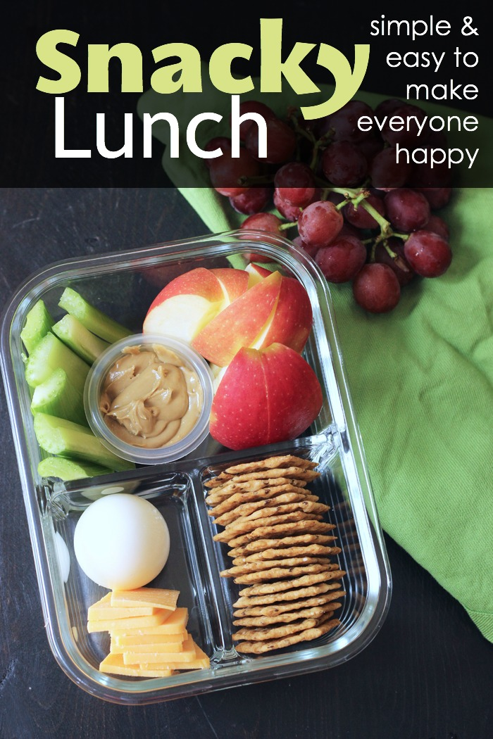 meal prep box with a snacky lunch