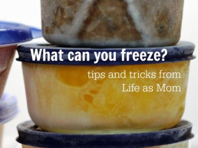 What can you freeze Life as Mom