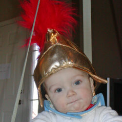 baby roman soldier