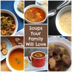 6 Easy Soups Your Family Will Love - A weekly soup night is a good thing - great for using up leftovers, eating a bit more economically, and taking a bit of guesswork out of your meal plan.