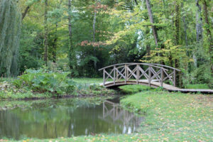 bridge over pond trim