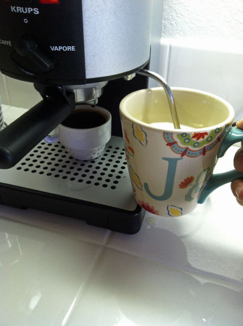 clean counter espresso