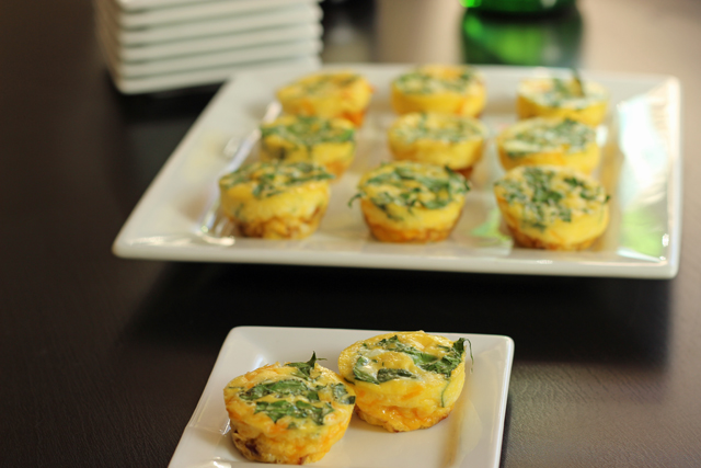 Bacon Spinach Frittata Bites - Want to bring something tasty and filling to your next party? These Bacon and Spinach Frittata Bites are just the cocktail snack to prepare. Check out this round-up of finger foods from holiday sweets to savory treats.