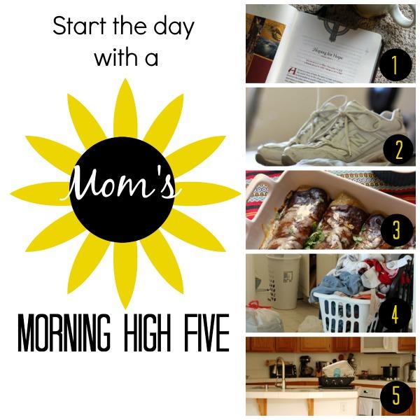 mom's high five