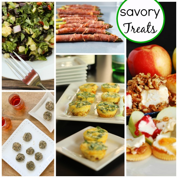 a collage of different savory treats