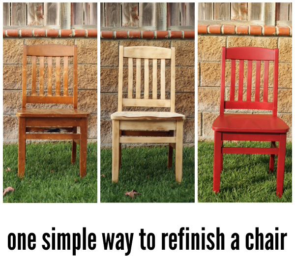 How We Are Refinishing Our Chairs and a Giveaway from Rockwell Tools - We've saved hundreds of dollars over the years by buying used furniture instead of new. Thanks to some easy tricks we can refinish used stuff and make it new again, like this simple method to refinish a chair.
