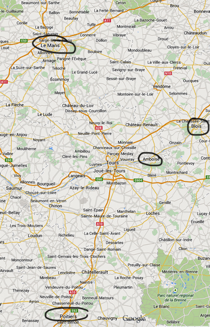 france loire map