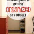 organized on a budget