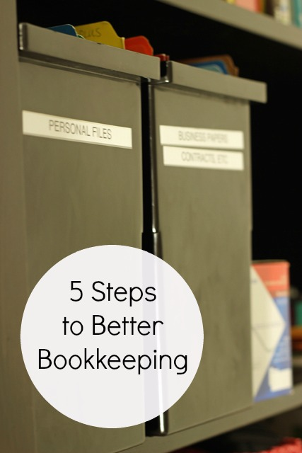 5 Steps to Better Bookkeeping | LifeasMOM.com
