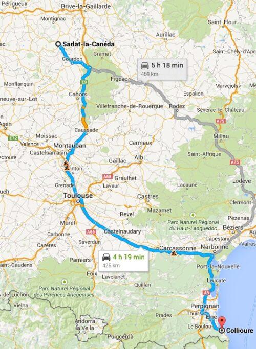 European Vacation SarlatlaCaneda to Collioure