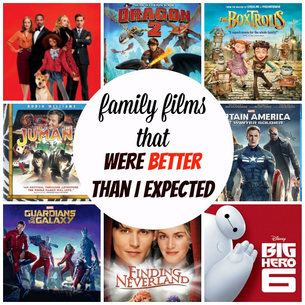 Family Films that Were Better Than I Expected