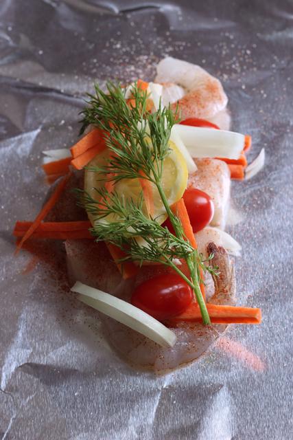 Easy Fish & Shrimp Packets