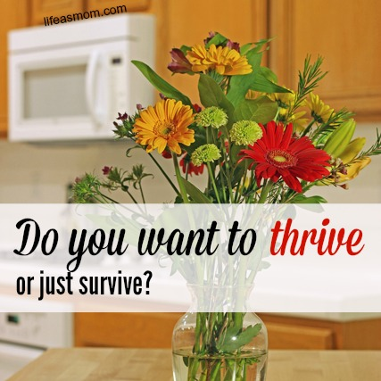 Do you want to thrive or just survive?