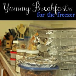 Freezer Cooking: Yummy Breakfasts Cooking Plan