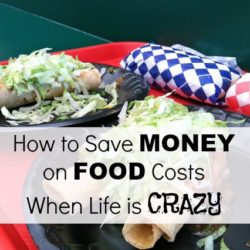 How to Save Money on Food Costs When Life is Crazy