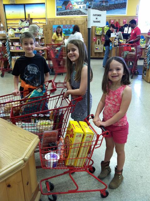 kids at trader joe's
