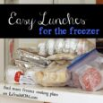 Easy Lunches for the Freezer - Cooking Plan