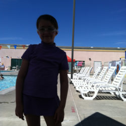 girl at pool